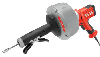 Ridgid Tool Company K-45AF Drain Cleaners, 600 rpm, 3/4 in-2 1/2 in Pipe Dia., w/Autofeed (1 EA/CA)