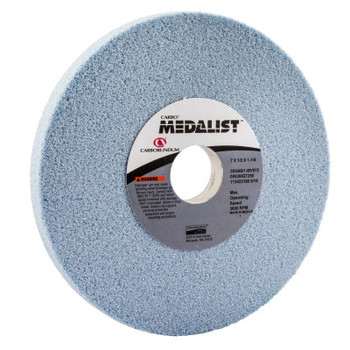 Carborundum Medalist Toolroom Wheels, Type 1, 7 in Dia., 1/2 in Thick, 46 Grit, I/V/L Grade (1 EA/DZ)