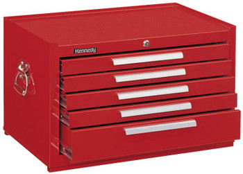 Kennedy Snap-In Mechanics' Chests, 27 in x 18 in x 16 5/8 in, Smooth Red (1 EA/DOZ)