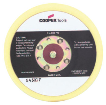 "Apex Tool Group 5"" HOOK & LOOP PAD NON-VAC (1 EA/DOZ)"