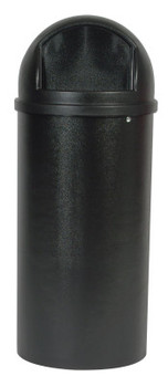 Newell Rubbermaid Marshal Classic Containers, 25 gal, Black (1 EA/DZ)