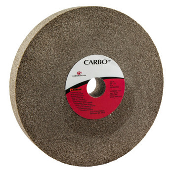 Carborundum Bench and Pedestal Wheels, Type 1, 8 in Dia., 1 in Thick, 60 Grit, M Grade (1 EA/DZ)