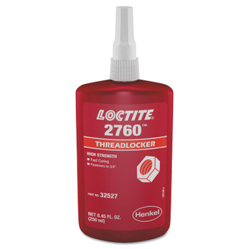 LOCTITE 2760 Threadlockers, Primerless High Strength, 250 mL, Red (1 EA/DZ)
