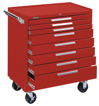 Kennedy Industrial Series Roller Cabinets, 34 in x 20 in x 40 in, 8 Drawers, Smooth Red (1 EA/PR)