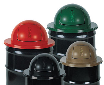 Newell Rubbermaid Steel Dome Tops, For MT32, H55, H55E, SBR52; or 55 Gal. Drums, 24 1/2 in (1 EA/DZ)
