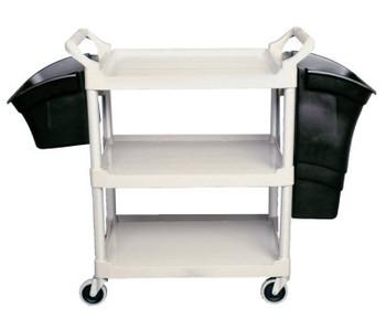 Newell Rubbermaid Utility/Service Carts, 200 lb, 33 5/8 X 18 5/8 X 37 3/4h, Off-White (1 EA/DOZ)