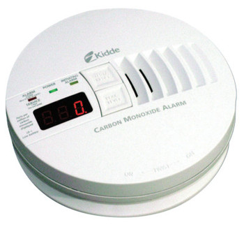 Kidde Carbon Monoxide Alarms w/ Digital Display, Carbon Monoxide, Electrochemical (6 EA/CA)
