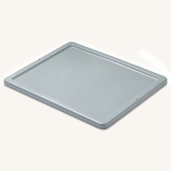 Newell Rubbermaid Stack and Nest Palletote Box Lids, 15 5/8 in x 19 5/8 in x 1 in, Gray (10 EA/DZ)