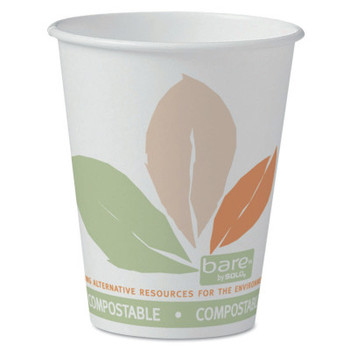 Solo Eco-Forward Compostable PLA Paper Hot Cups, 8 oz, Bare (1 CA/DZ)