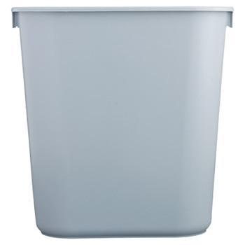 Newell Rubbermaid Deskside Wastebaskets, 28 1/8 qt, Plastic, Gray (1 EA/DZ)