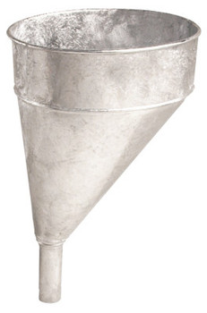Plews Funnels, 5 qt, Offset, Galvanized Steel, 10 in dia. (1 EA/EA)