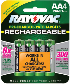Rayovac Platinum Pre-Charged Rechargeable Batteries, NiMH, AA (6 EA/EA)