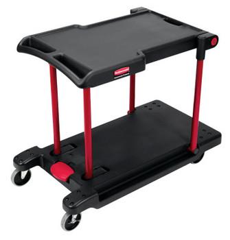 Newell Rubbermaid Convertible Utility Carts, 250 lb; 400 lb, 42 1/2 X 23 4/5 X 34 2/5h, Black (1 EA/PR)