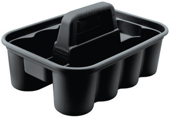 Newell Rubbermaid Deluxe Carry Caddy's, 10.9 in W x D x 7.4 in H, Black (1 EA/DZ)