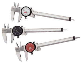 L.S. Starrett 120 Series Dial Calipers, 0 in-6 in (1 EA/EA)