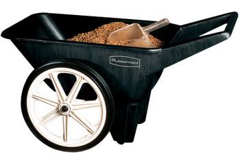 Newell Rubbermaid Big Wheel Cart, 27 1/2 in w x 47 in l x 24 3/4 in h, Black, 38.2 lb (1 EA/EA)