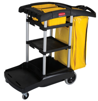 Newell Rubbermaid BLACK HIGH CAPACITY CLEANING CART (1 EA/EA)