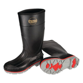 Honeywell XTP Knee Boots, Size 6, PVC, Black/Red/Gray (1 PR/EA)