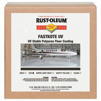 Rust-Oleum Industrial FastKote UV Stable Polyurea Floor Coatings, Tan, 1 Gal, Solvent (1 EA/EA)