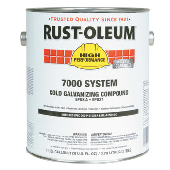 Rust-Oleum Industrial 7000 System Cold Galvanizing Compound, 1 gal Can (2 GA/BOX)