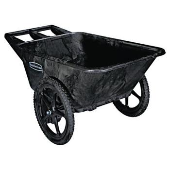 RUBBERMAID COMMERCIAL PROD. Big Wheel Agriculture Cart, 300-lb Cap, 32-3/4 x 58 x 28-1/4, Black (1 EA/EA)