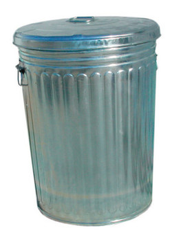Magnolia Brush Pre-Galvanized Trash Can With Lid, 20 gal, Galvanized Steel, Gray (1 CAN/EA)