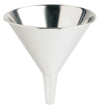 Plews Funnels, 56 oz, Tin Coated, 8 in dia. (1 EA/PKG)