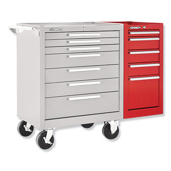 Kennedy Hang-On Cabinets, 13 5/8 in x 20 in x 29 in, 5 Drawers, Smooth Red, w/Slides (1 EA/EA)
