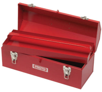 Stanley Products Hip Roof Tool Boxes, 7 in D, Steel, Red (1 EA/KT)