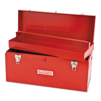 Stanley Products General Purpose Tool Boxes, Double Latch, 20 x 8 1/2 x 9 1/2, Steel, Red (1 EA/EA)
