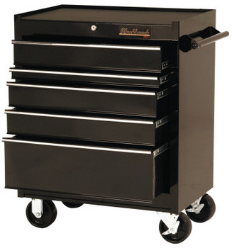 Stanley Products 5 Drawer Roller Cabinets, 27 in x 18 in x 35 in, 5 Drawers, Black (1 EA/EA)