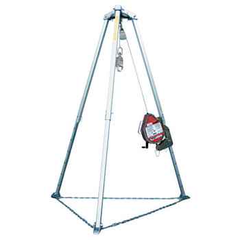 """Honeywell Confined Space and Rescue Systems, 50 ft, 3/16"""" Glvnzd Wire Rpe w/Brckt & Plly (1 EA/PR)"""