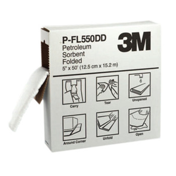 3M High-Capacity Petroleum Folded Sorbents, Absorbs 1.5 gal (3 CS/PK)