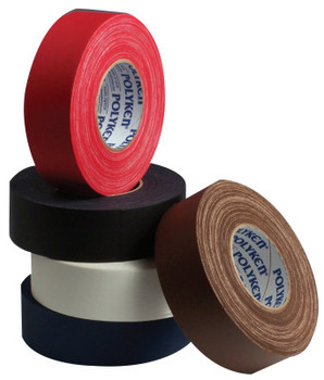 Berry Global Premium Vinyl Coated Gaffers Tapes, 2 in X 60 yd, 11.5 mil, Red (24 ROL/CA)