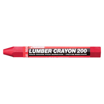 Markal #200 Lumber Crayons, 1/2 in, Red (12 DZ/EA)