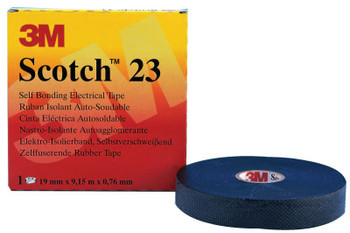 3M Scotch Rubber Splicing Tapes 23, 30 ft x 2 in, Black (1 ROL/EA)