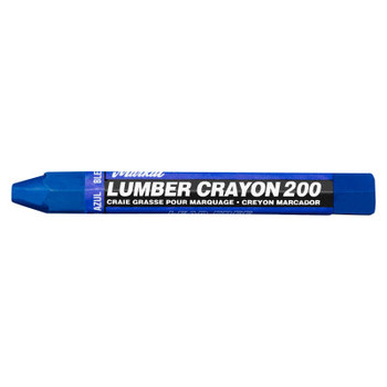 Markal #200 Lumber Crayons, 1/2 in, Blue (12 DZ/BX)
