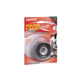 LOCTITE Insulating and Sealing Wraps, 1 in X 10 ft, Black (10 EA/CA)