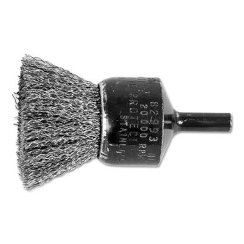 """Advance Brush Standard Duty Crimped End Brushes, Stainless Steel, 20,000 rpm, 1"""" x 0.01"""" (1 EA/BOX)"""