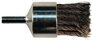 """Advance Brush Straight Cup Knot End Brushes, Stainless Steel, 20,000 rpm, 3/4"""" x 0.01"""" (1 EA/EA)"""