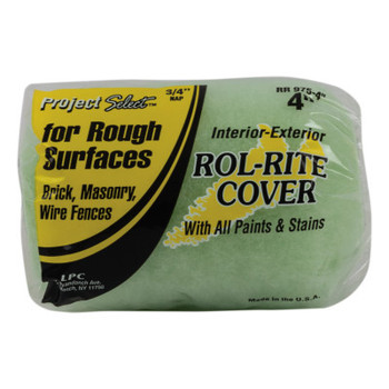 Linzer Rol-Rite Roller Covers, 4 in, 3/4 in Nap, Knit Fabric (12 BOX/EA)