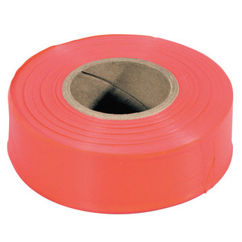 Stanley Products Flagging Tape, 1 3/16 in x 150 ft, Red Glo (1 ROL/EA)