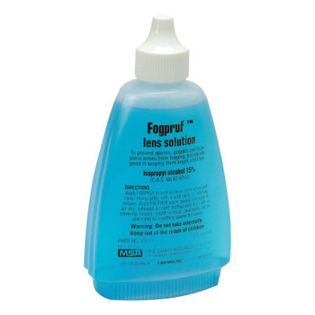 MSA Fogpruf Lens Cleaner, Blue, 4 oz Bottle (1 EA/EA)