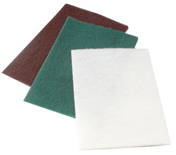 CGW Abrasives Non-Woven Hand Pads, Medium, Green (60 EA/EA)
