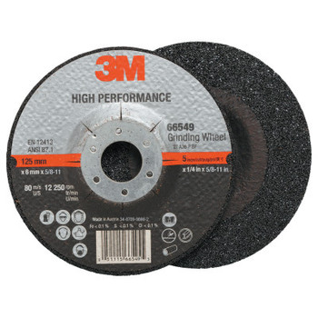 3M Cut-off Wheel Abrasives, 36 Grit, 12,250 rpm (20 CA/EA)