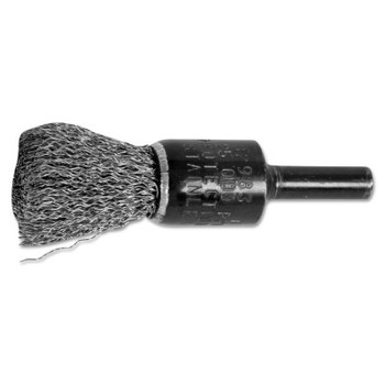 """Advance Brush Standard Duty Crimped End Brushes, Stainless Steel, 22,000 rpm, 1/2"""" x 0.01"""" (10 EA/EA)"""