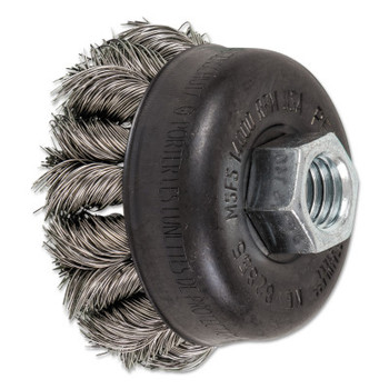 Advance Brush COMBITWIST Knot Wire Cup Brush, 2 3/4 in Dia., .014 in Stainless Steel Wire (5 EA/EA)