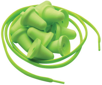 Moldex Jazz Band Replacement Pods & Neck Cords, 1 Neck Cord with 5 Pairs of Pods, Green (1 PK/EA)