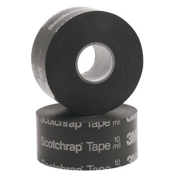 "3M Scotchrap All-Weather Corrosion Protection Tape 50, Unprinted,100'X2"",10 mil, Bk (24 RL/CTN)"