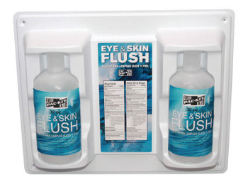 First Aid Only Eye & Skin Flush Emergency Station/Replacement Twin Bottles, 32 oz (1 EA/PL)